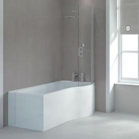 Sommer P Shaped 1700mm Shower Bath