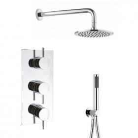 Crosswater Designer 3 Control Shower Valve Pack with Head & Handset