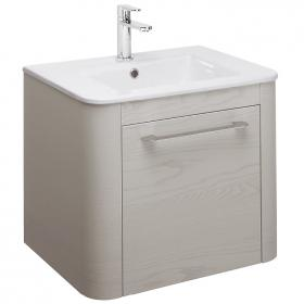 Bauhaus Celeste Pebble 60 Vanity Unit and Ceramic Basin
