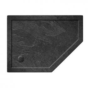 Simpsons 1200 x 900mm Pentangle Grey Slate 35mm Shower Tray & Waste