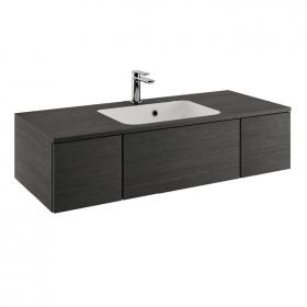 Bauhaus Pier 1000mm Steel  Wall Hung Console Unit & Basin