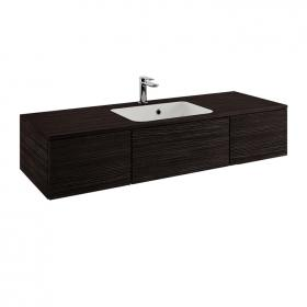 Photo of Bauhaus Pier 1200mm Anthracite Wall Hung Console Unit & Basin