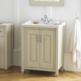 Old London Pistachio 600mm 2 Door Vanity Unit & Basin