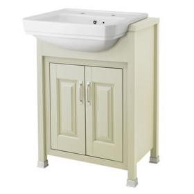 Old London Pistachio 600mm Semi Recessed Basin & Vanity Unit