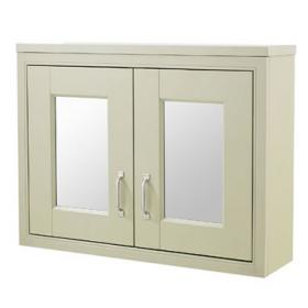 Old London Pistachio 800mm Mirror Cabinet
