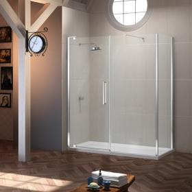Photo of Merlyn 10 Series Pivot & Inline Shower Door With Side Panel