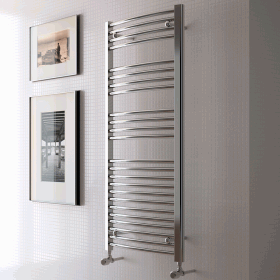 Radox Premier Curved Chrome Towel Radiator