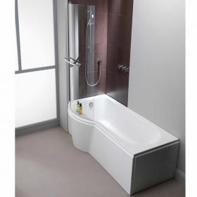 Pura Arco 1500mm Left Hand Shower Bath