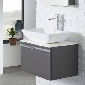 Roper Rhodes Pursuit 600mm Charcoal Elm Vanity Unit & Worktop