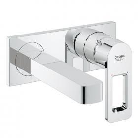 Photo of Grohe Quadra Wall Mounted Basin Mixer with 153mm Spout