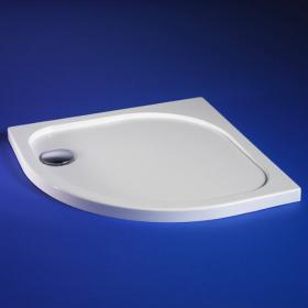 800 x 800 45mm Quadrant Stone Resin Shower Tray & Waste