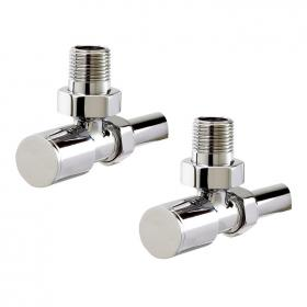 Photo of Phoenix Minimalistic Angled Radiator Valves