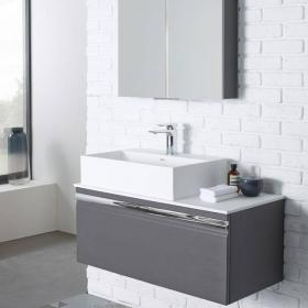 Roper Rhodes Pursuit 900mm Charcoal Elm Vanity Unit & Worktop