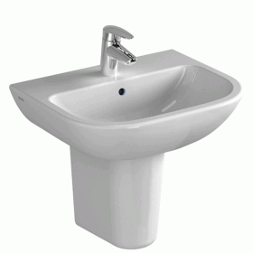 Vitra S20 600mm Washbasin with Pedestal