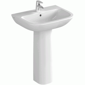 Vitra S20 650mm Washbasin with Pedestal