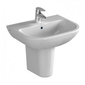 Vitra S20 450mm Cloakroom Washbasin with Pedestal