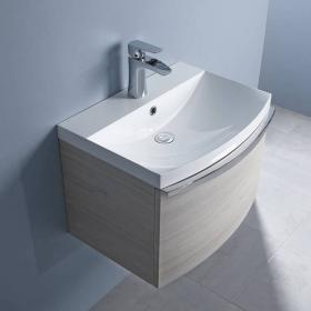 Roper Rhodes Serif Light Elm 600mm Wall Mounted Unit & Basin