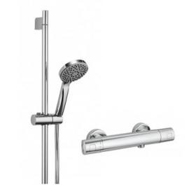 Axim Slider Rail Kit with Thermostatic Bar Shower Valve