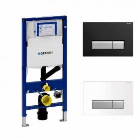 Geberit Duofix 1.12m WC Concealed Frame with Odour Extraction & Flush Plate