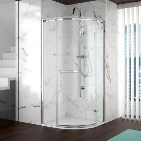 Merlyn 8 Series Frameless 1 Door Quadrant Shower Door