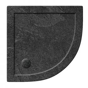 Simpsons 900mm Quadrant 35mm Grey Slate Effect Shower Tray & Waste
