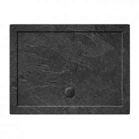 Simpsons 1000 x 700mm Rectangular 35mm Grey Slate Shower Tray & Waste