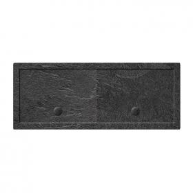Simpsons 2000 x 900mm Grey Slate Effect Walk In 35mm Shower Tray & Waste