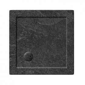Simpsons 800mm Square 35mm Grey Slate Acrylic Shower Tray & Waste