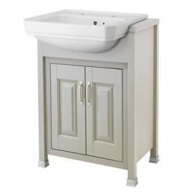Old London Stone Grey 600mm Semi Recessed Basin & Vanity Unit
