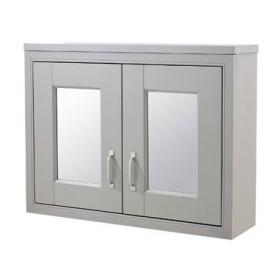 Old London Stone Grey 800mm Mirror Cabinet