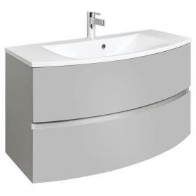 Photo of Bauhaus Svelte Storm Grey Matt 100 Vanity Unit and Basin