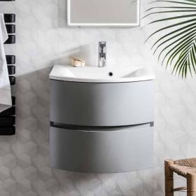 Photo of Bauhaus Svelte Storm Grey Matt 60 Vanity Unit and Basin