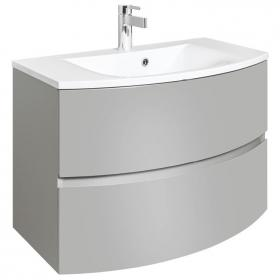 Bauhaus Svelte Storm Grey Matt 80 Vanity Unit and Basin
