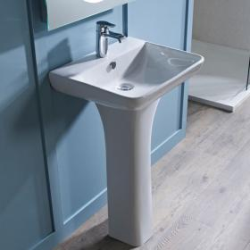 Tavistock Structure Ceramic 550mm Basin & Pedestal