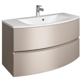 Bauhaus Svelte Matt Coffee 100 Vanity Unit and Basin