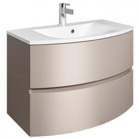 Bauhaus Svelte Matt Coffee 80 Vanity Unit and Basin