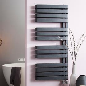 Photo of Bauhaus Svelte 500 Metallic Black Matte Towel Rail