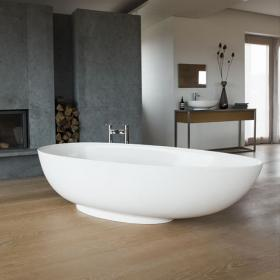 Clearwater Teardrop Grande 1910mm Clear Stone Freestanding Bath