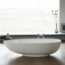 Clearwater Teardrop Petite 1690mm Clear Stone Freestanding Bath