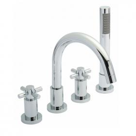 Hudson Reed Tec Crosshead 4 Tap Hole Bath Mixer