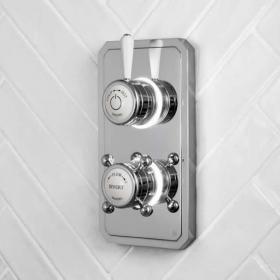 Burlington Classic 1910 Digital Dual Outlet Bath/Shower Valve - Low Pressure