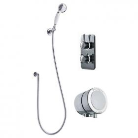 Burlington Classic 1910 Digital Bath/Shower Valve With Handset & Overflow Filler
