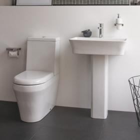 Britton Fine 600mm Basin & Close Coupled Toilet Set