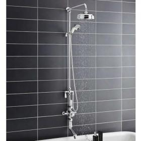 Hudson Reed Topaz Triple Thermostatic Shower Valve with Rigid Riser Kit & Bath Spout