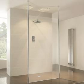 Elite Wet Room Glass Screen With Two Posts