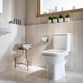 Roca Debba Close Coupled WC, Cistern & Seat