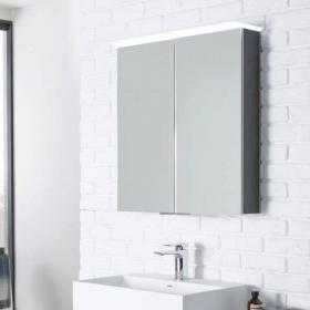 Roper Rhodes Visage 655mm LED Illuminated Aluminium Mirror Cabinet