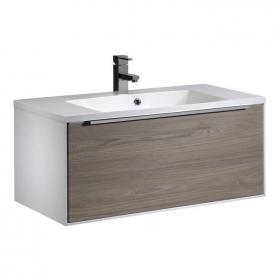 Roper Rhodes Vista 900mm Dark Elm Wall Hung Unit & Basin