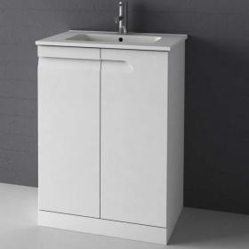 Frontline Vitale Gloss White 600mm Floorstanding Unit & Basin