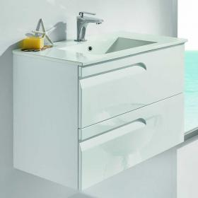 Frontline Vitale White Gloss 1000mm Vanity Unit & Basin